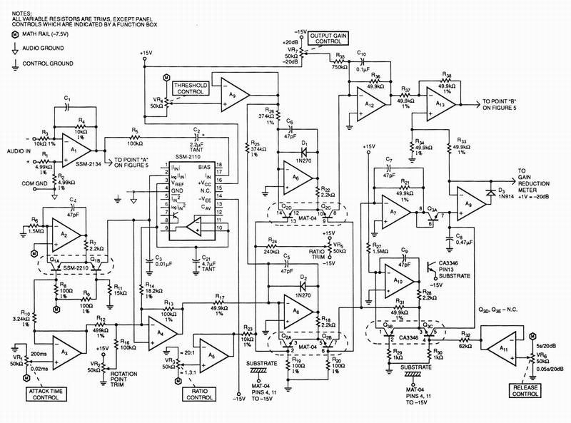 ssm pmi application note 135 compressor limiter pro audio design forum
