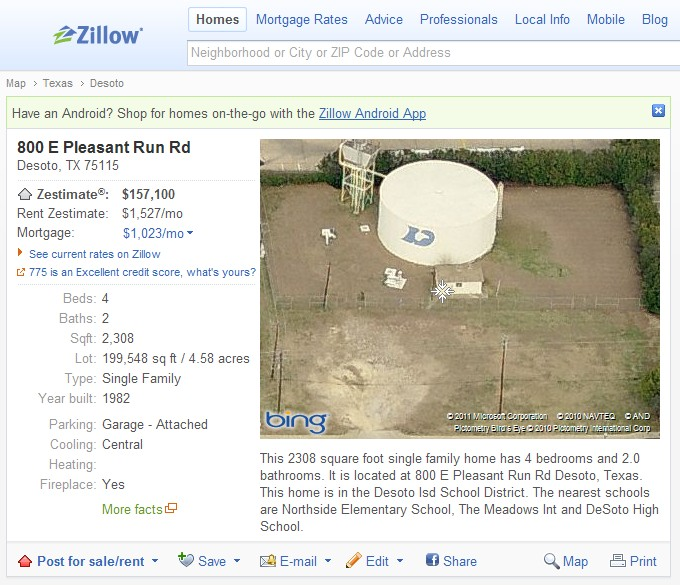 zillow  valuation